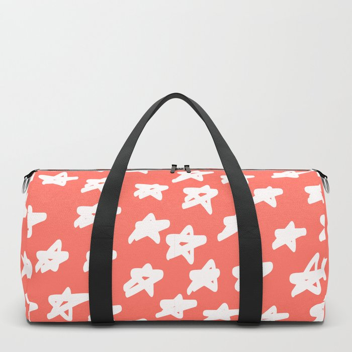 Stars Living Coral Duffle Bag