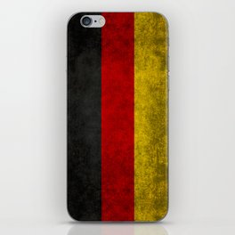German National flag, Vintage retro patina iPhone Skin