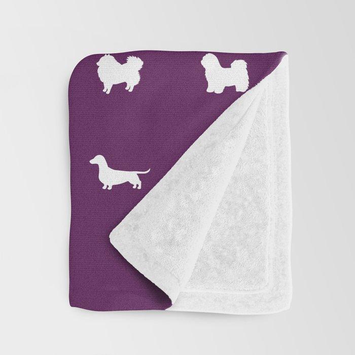 All Dogs (Plum) Throw Blanket
