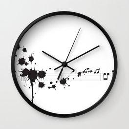 Splatter in D Minor Wall Clock