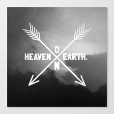 Heaven on Earth (B&W) Canvas Print