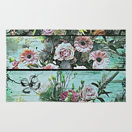 Romantic Rococo wood panel Rug