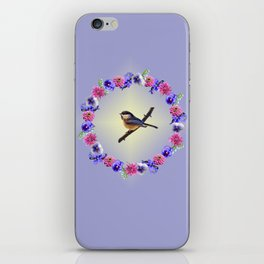 Chick-a-dee Flower Ring iPhone Skin