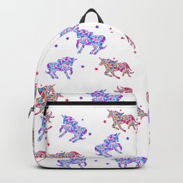 Tie Dye Unicorns, Because Why Not? Backpack