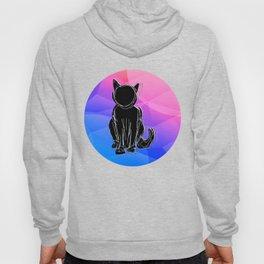 Black Cat - geometric background Hoody