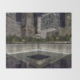 9-11 Memorial New York City Throw Blanket