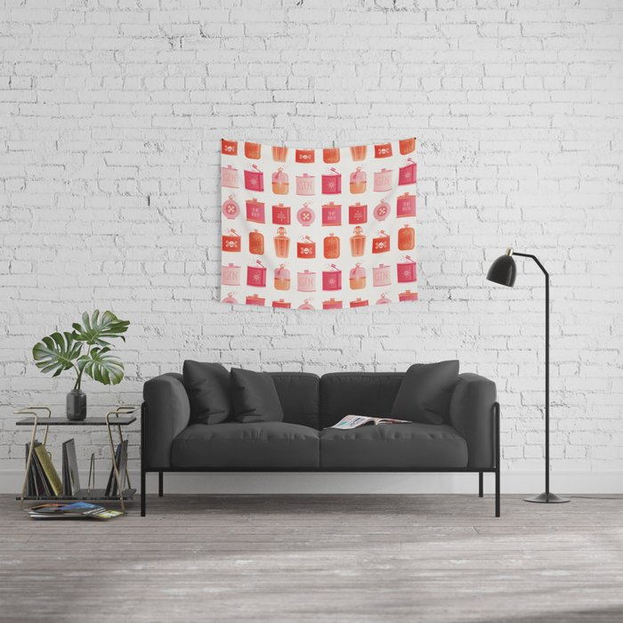 Flask Collection – Pink/Peach Ombré Palette Wall Tapestry