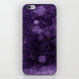 Violet grunge scratches texture iPhone Skin