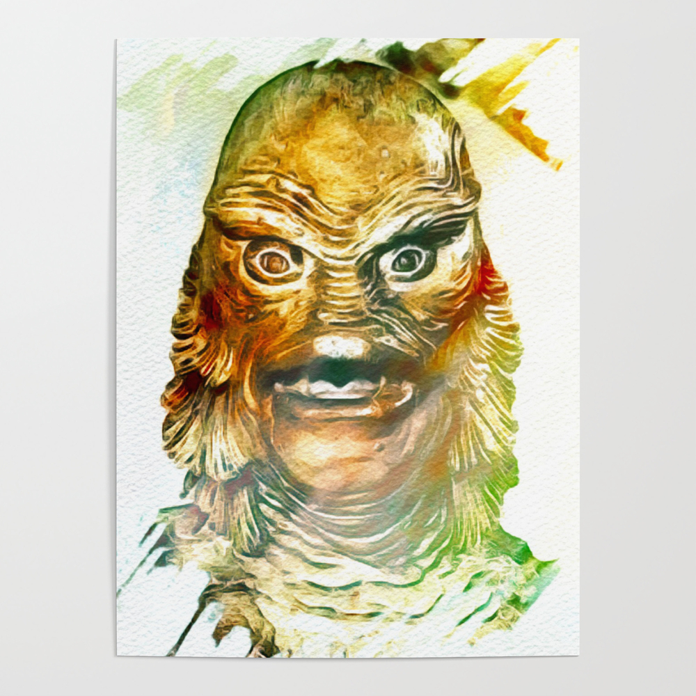 Creature From The Black Lagoon Poster by Esotericaartagency POS9115641