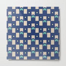 Art Deco Geometric Pattern 272 Metal Print