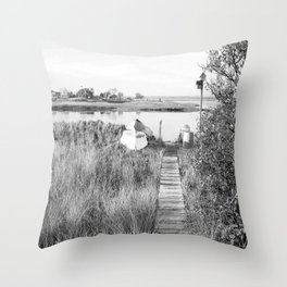 Walkway To The Basin Throw Pillow
