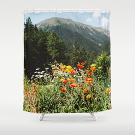 Mountain garden Shower Curtain