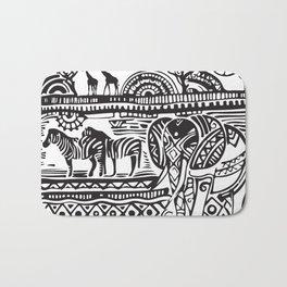 African Tribal Pattern No. 17 Bath Mat
