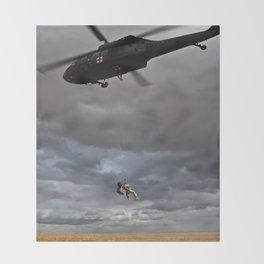 Suspended Between Worlds Throw Blanket