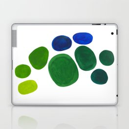 Mid Century Kusama Abstract Minimalist Colorful Pop Art Lime Green Blue Rainbow Ombre Gradient Laptop & iPad Skin