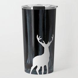 Glowing White Stag Travel Mug