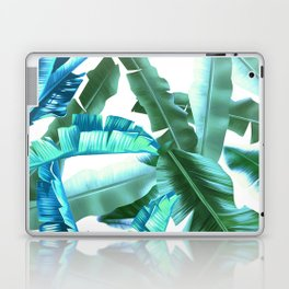 tropical banana leaves pattern turquoise Laptop & iPad Skin