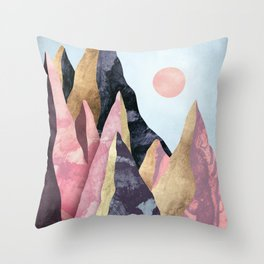 Mauve Peaks Throw Pillow