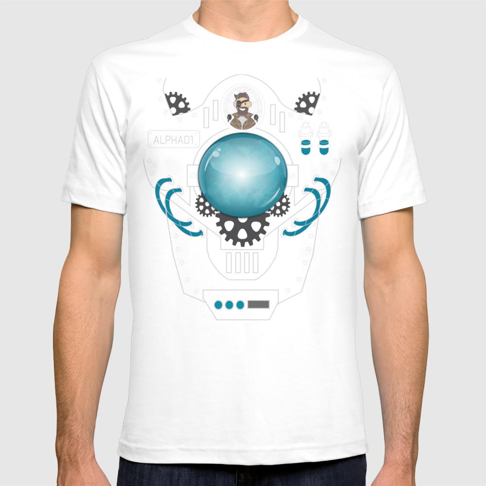 Badass Mech Shirt T-shirt by Chocopups TSR8879725