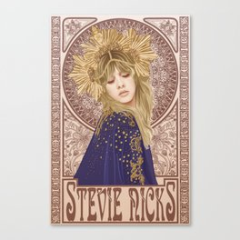 Stevie Nicks Mucha Canvas Print