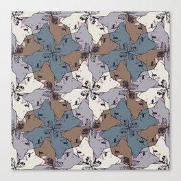Frenchie Yoga Tessellations Canvas Print