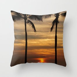 Watching The Setting Sun Throw Pillow