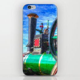 Clayton and Shuttleworth Traction Engine Art iPhone Skin