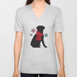 Black Dog Winter Unisex V-Neck