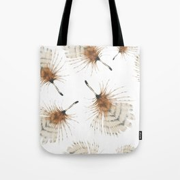 Delicate Brown Feather Seamless Pattern Tote Bag