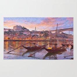 Porto at dusk Rug