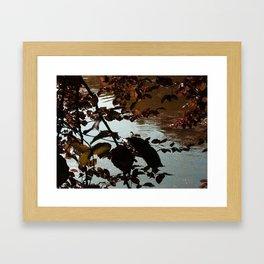 Calm lake at dusk Framed Art Print