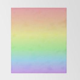 Pastel Rainbow Gradient Throw Blanket