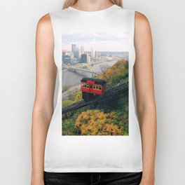 An Autumn Day on the Duquesne Incline in Pittsburgh, Pennsylvania Biker Tank