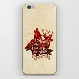 I solemnly swear iPhone Skin