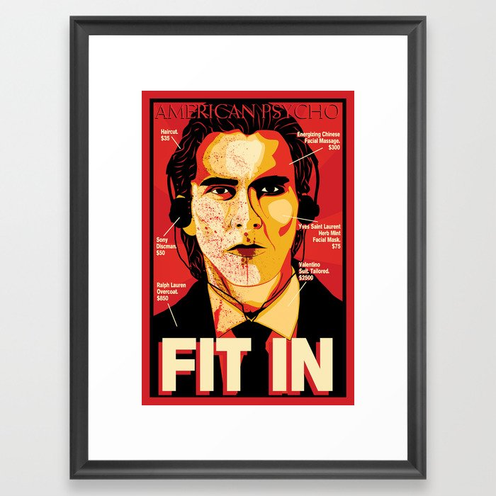 American Psycho Fit In Movie Poster Framed Art Print By