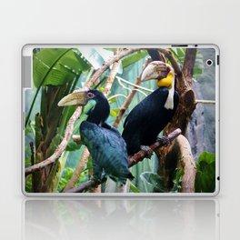 Pair Of Wreathed Hornbills Laptop & iPad Skin