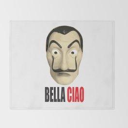 Dalí Mask La Casa de Papel Bella Ciao Throw Blanket