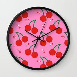 Cherry Bomb Pattern Wall Clock