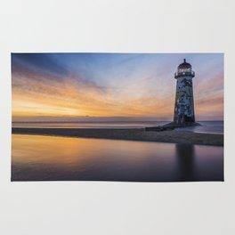 Sunset At The Lighthouse V2 Rug