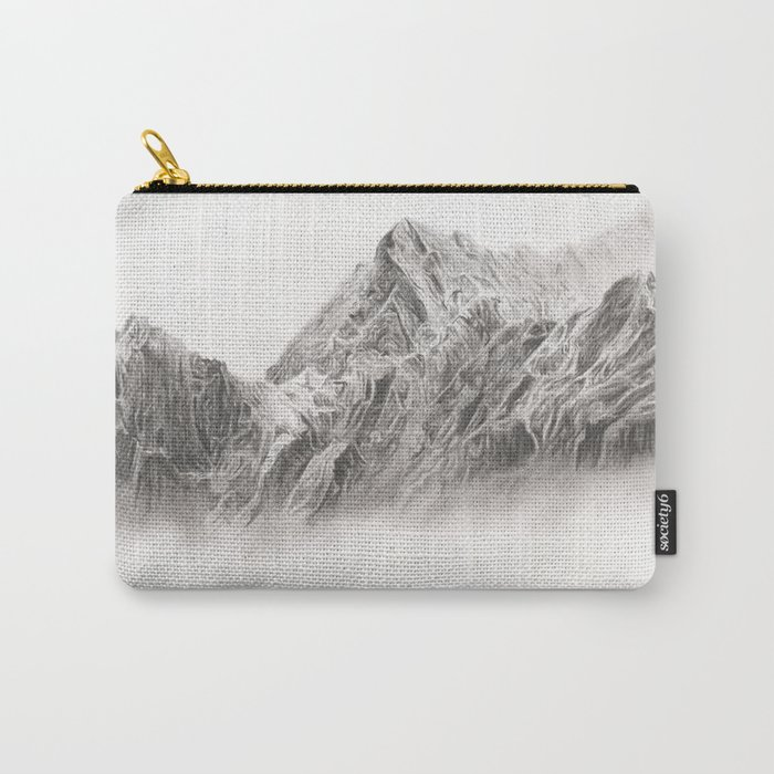 mountain range pencil art Carry-All Pouch