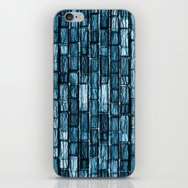 Calcite Indigo Opal Brick's wall iPhone Skin
