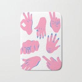 trans hands Bath Mat