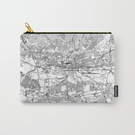 Johannesburg White Map Carry-All Pouch