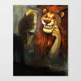 SELFIE LION Canvas Print