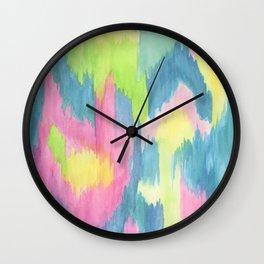 Watercolor Ikat Wall Clock