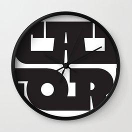 "TJ ""Slabbath"" Stacked Logo-Black Wall Clock"