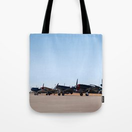 WW2 Warbirds Line-up, Sonoma County Airport, California Tote Bag