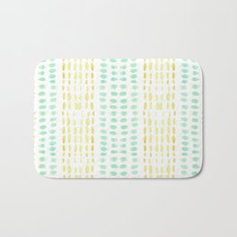Striped dots and dashes Bath Mat