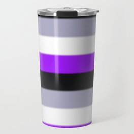 Asexual Pride Flag v2 Travel Mug