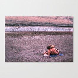 Sunset photo Canvas Print
